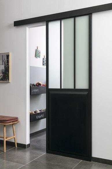 Puerta de cristal atelier corredera ref 19191130 leroy - Puertas exterior leroy ...