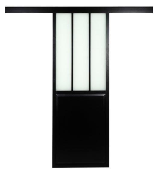 Puerta de cristal atelier corredera ref 19191130 leroy - Puertas rusticas leroy merlin ...