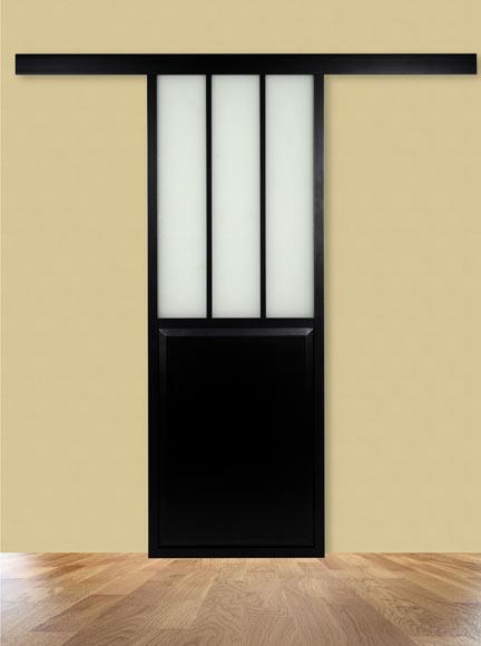 Puerta de cristal atelier corredera ref 19191130 leroy - Leroy merlin puertas correderas cristal ...