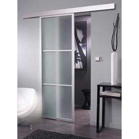 Puerta de cristal corredera artens puerta cristal - Puerta corredera cristal leroy ...