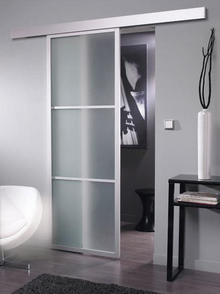 Puerta de cristal corredera artens puerta cristal - Puertas de aluminio leroy merlin ...