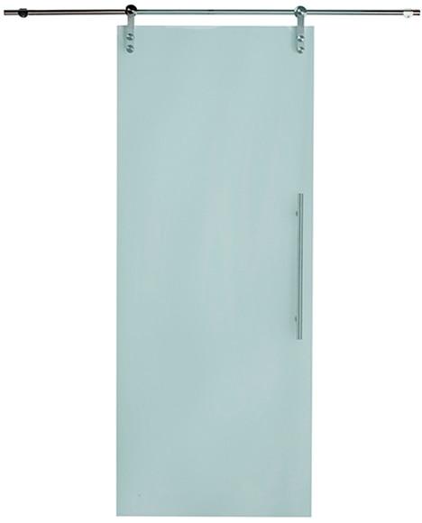 Puerta cristal corredera giorgia inox leroy merlin for Puertas de paso de cristal