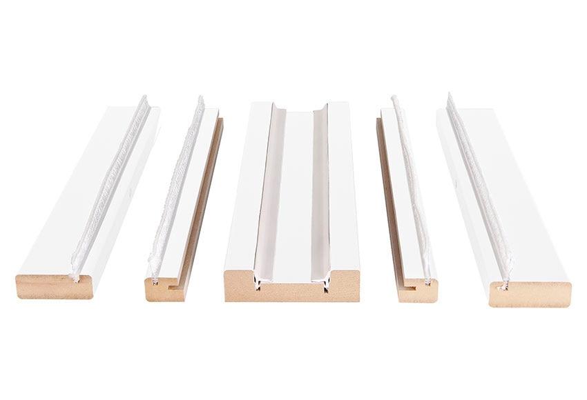 Kit de molduras corredera 105 blanco ref 15003751 leroy for Tapajuntas puertas leroy merlin