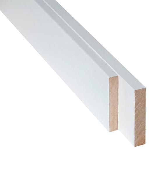 Tapetas blancas materiales de construcci n para la for Molduras madera leroy merlin