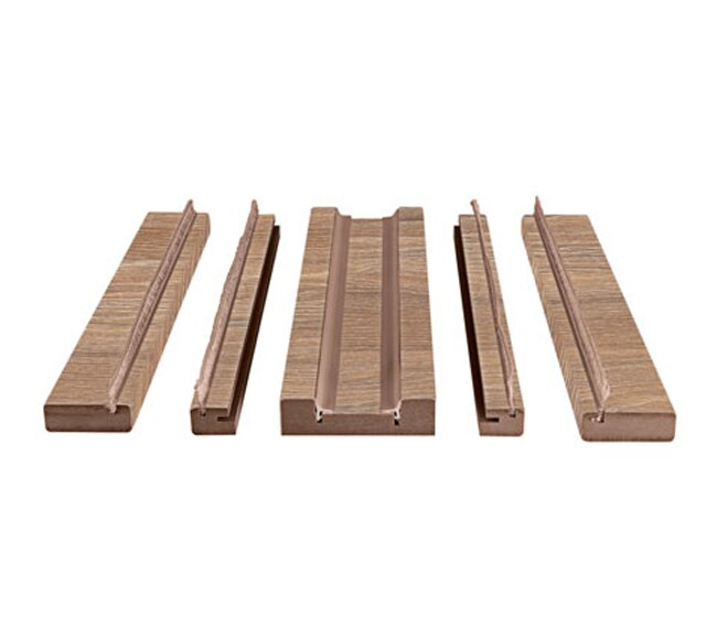Kit de molduras corredera nogal 105 ref 17994466 leroy for Molduras madera leroy merlin