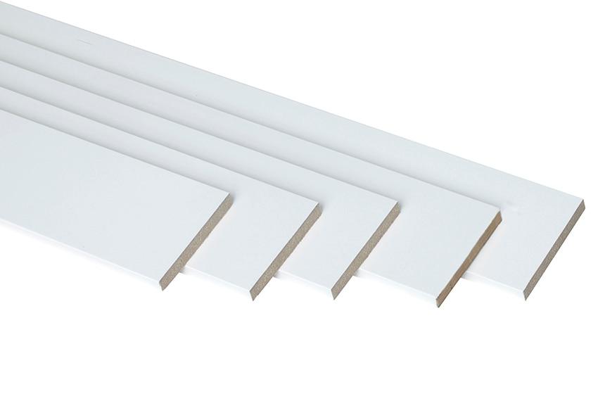 Liso vinilo blanco liso vinilo blanco ref 360106 for Molduras madera leroy merlin