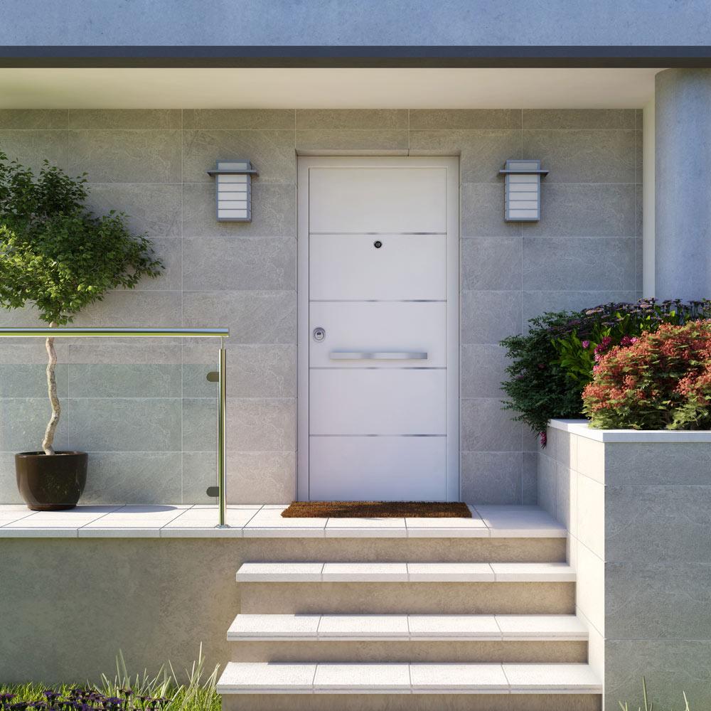 Puerta de entrada acorazada 3101 avia blanca lucerna for Puertas de aluminio leroy merlin