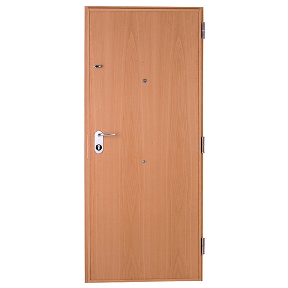 Puerta de entrada acorazada fresada haya ref 16146032 - Puerta acorazada leroy merlin ...