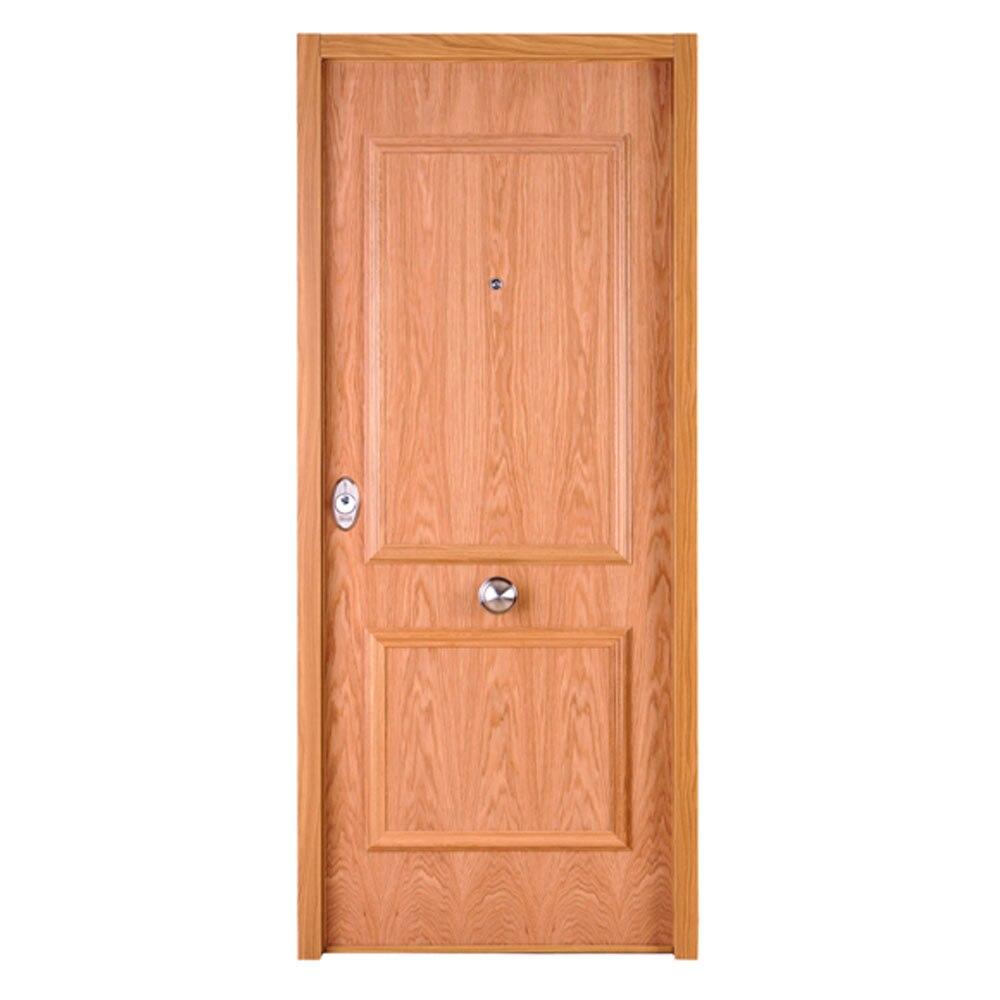 Puerta de entrada acorazada recta roble ref 16571303 - Leroy merlin puertas entrada ...