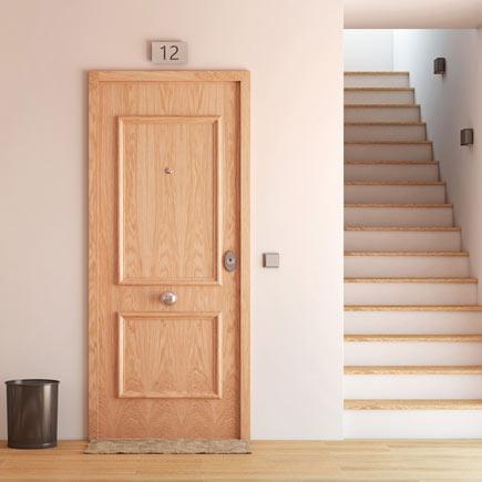 Puerta de entrada acorazada recta roble ref 16571310 leroy merlin - Leroy merlin puertas entrada ...