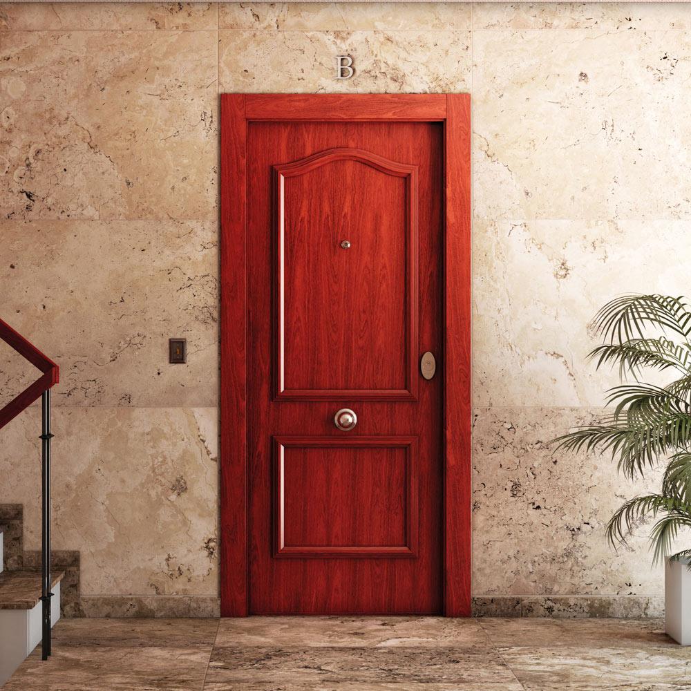 Puerta de entrada acorazada semiprovenzal sapelly ref - Puertas de pisos ...