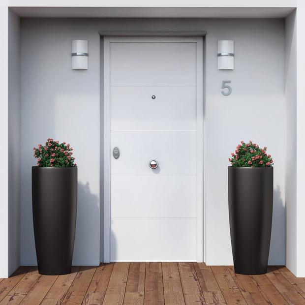 Puertas de entrada leroy merlin for Puertas exterior aluminio baratas