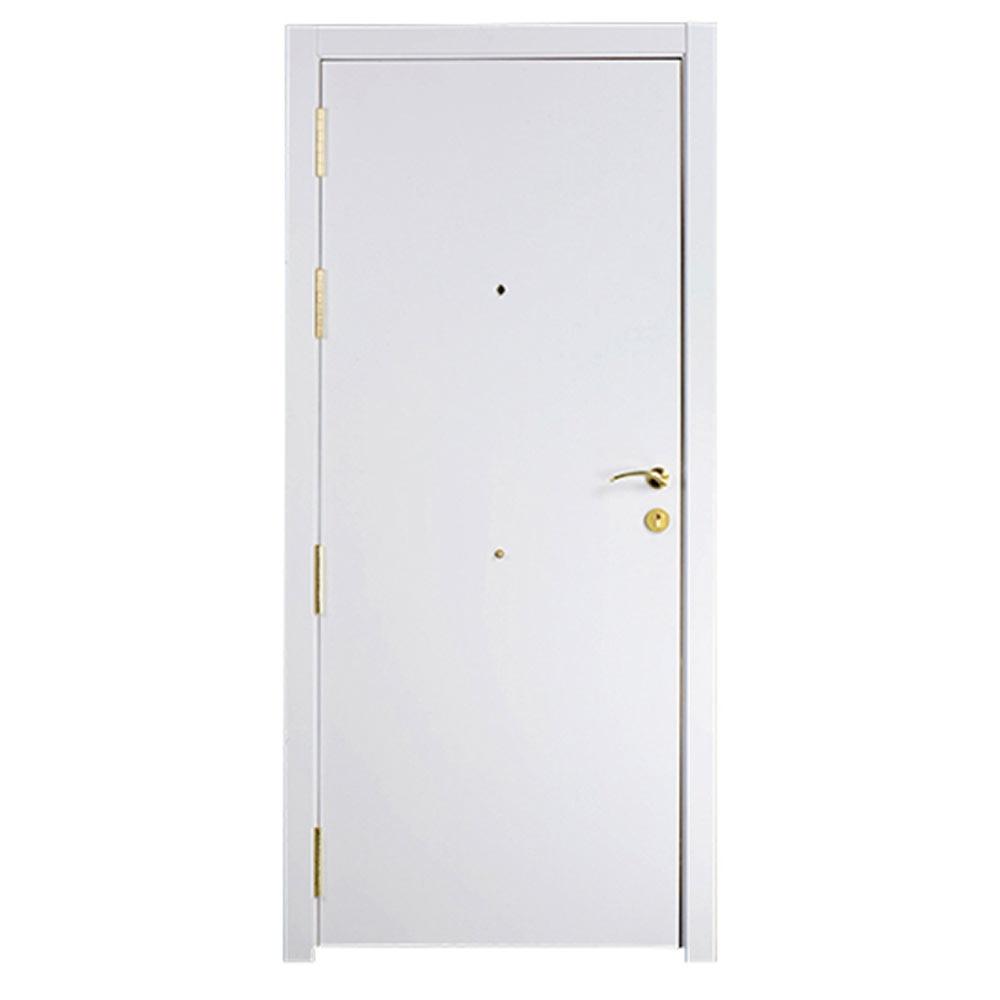 Puerta de entrada blindada lisa roble blanca ref 16146354 - Puerta blindada blanca ...