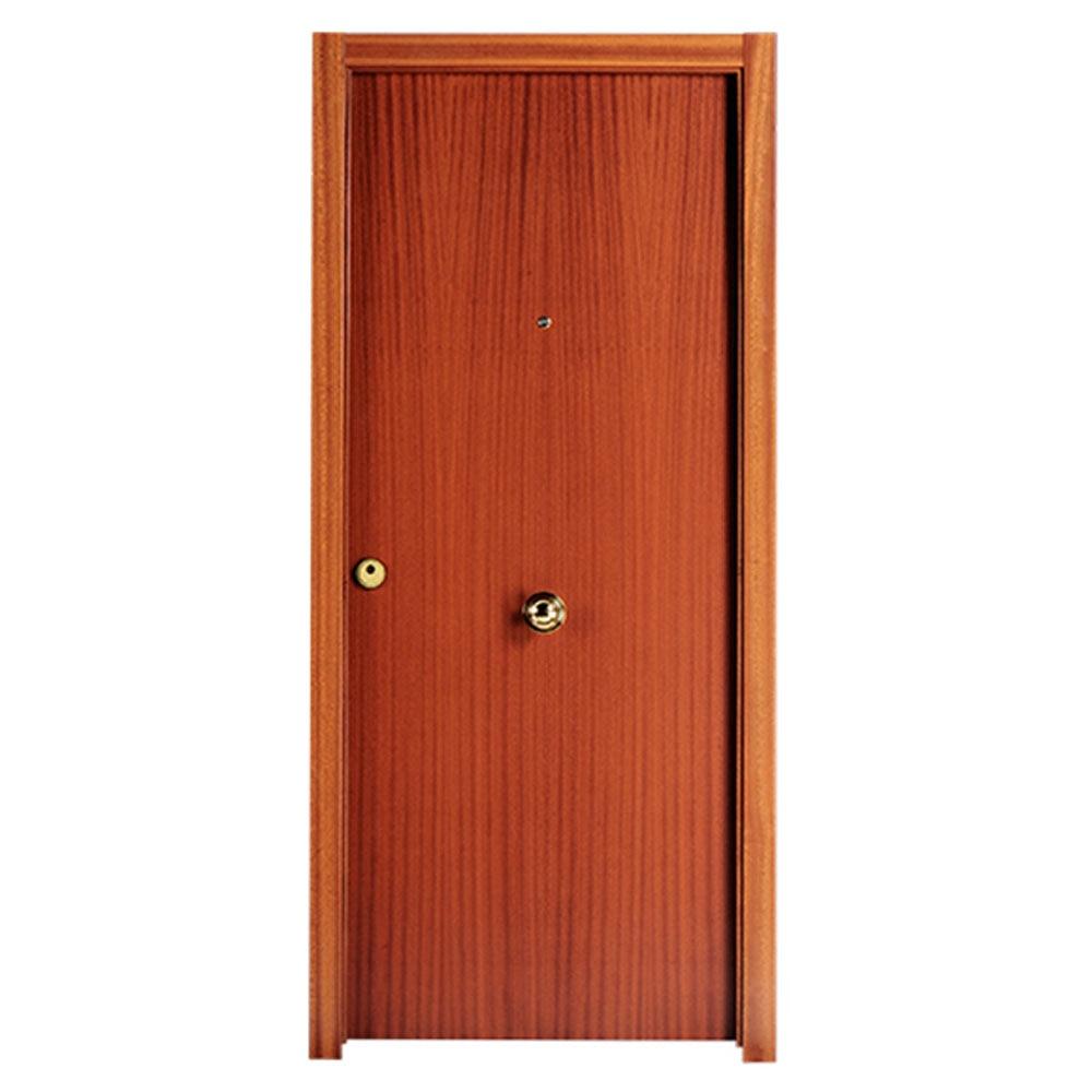 Puerta de entrada blindada lisa sapelly ref 14059360 for Puertas sapelly