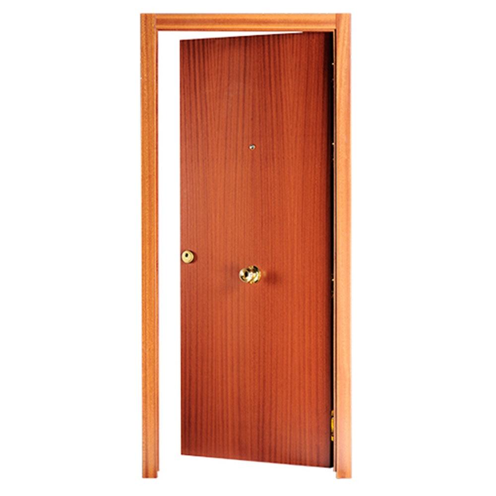 Puerta de entrada blindada lisa sapelly ref 14059360 for Puerta xor 3 entradas