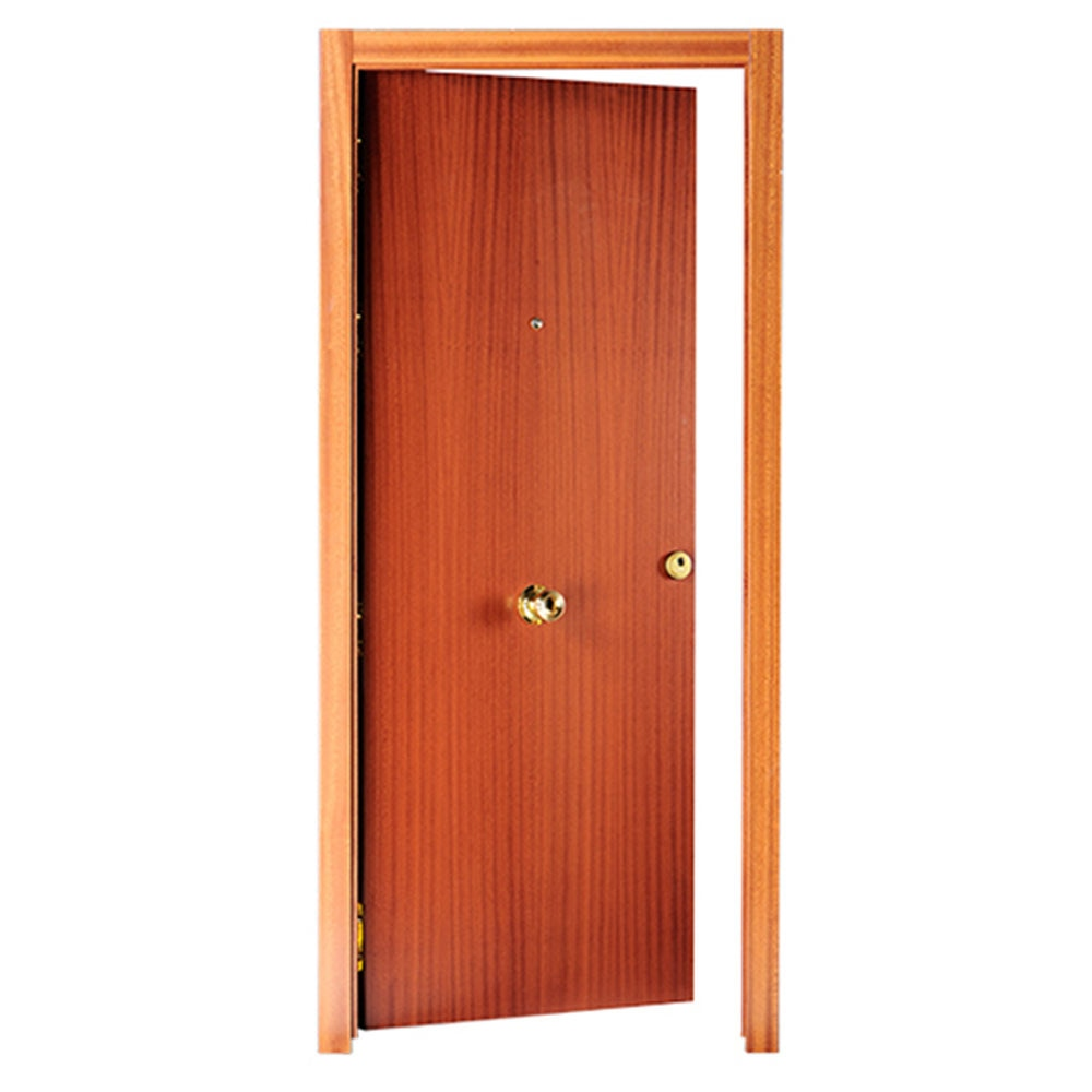 Puerta de entrada blindada lisa sapelly ref 14059374 - Mosquiteras para puertas leroy merlin ...