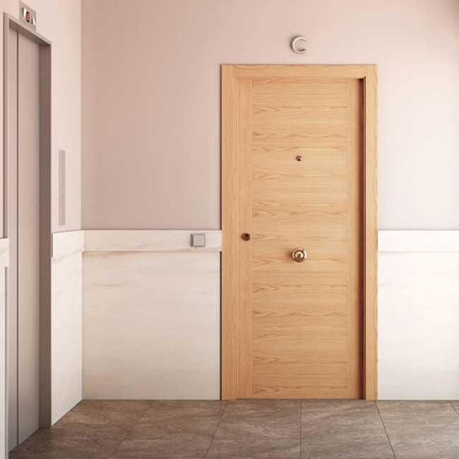 Puerta de entrada blindada noruega roble ref 16777236 - Puertas de roble ...