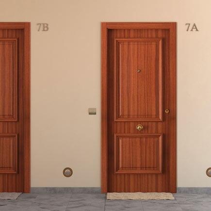 Puerta de entrada blindada recta sapelly ref 15003716 - Leroy merlin puertas entrada ...
