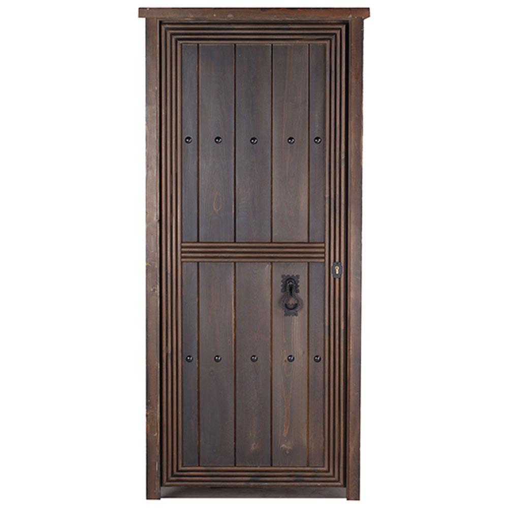 Puerta de entrada maciza azahara r stico ref 14069244 for Tapajuntas puertas leroy merlin