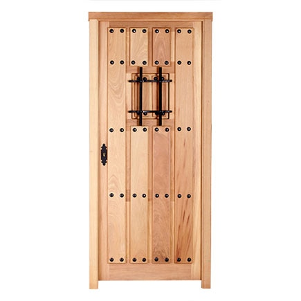 Puerta de entrada maciza iroko entera reja ref 14780185 leroy merlin - Puertas rusticas exterior leroy merlin ...