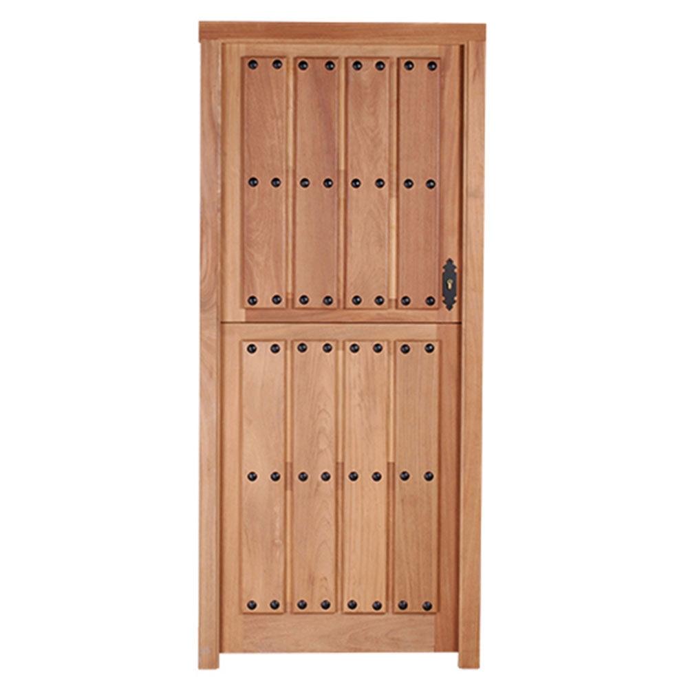 Puerta de entrada maciza iroko partida ref 14780206 for Puertas de iroko exterior