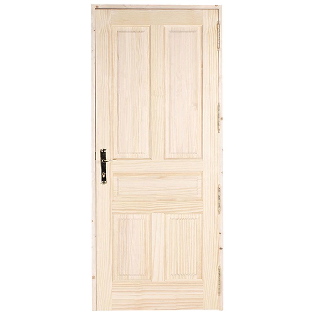 Puerta de entrada maciza m laga pino ref 14827470 leroy - Puertas exterior malaga ...