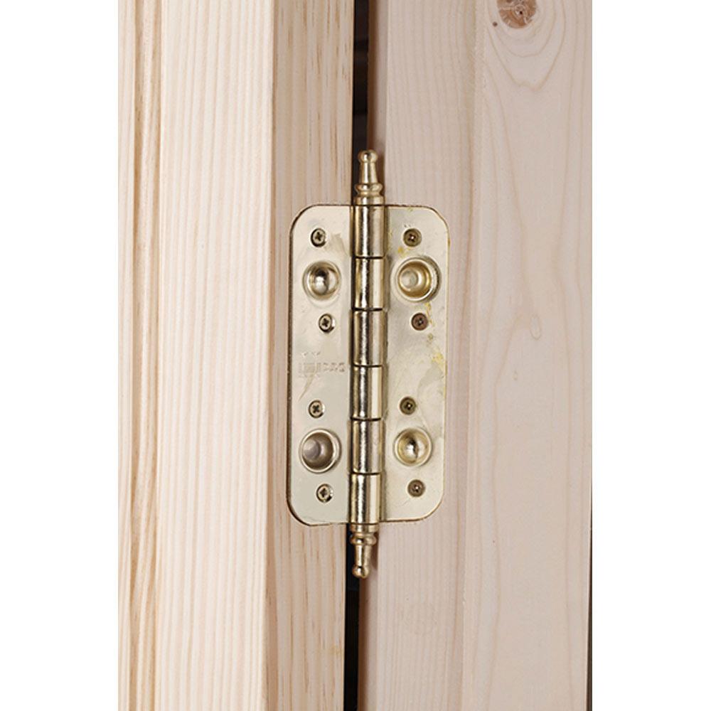 Puerta de entrada maciza m laga pino ref 14827470 leroy for Puertas de madera malaga