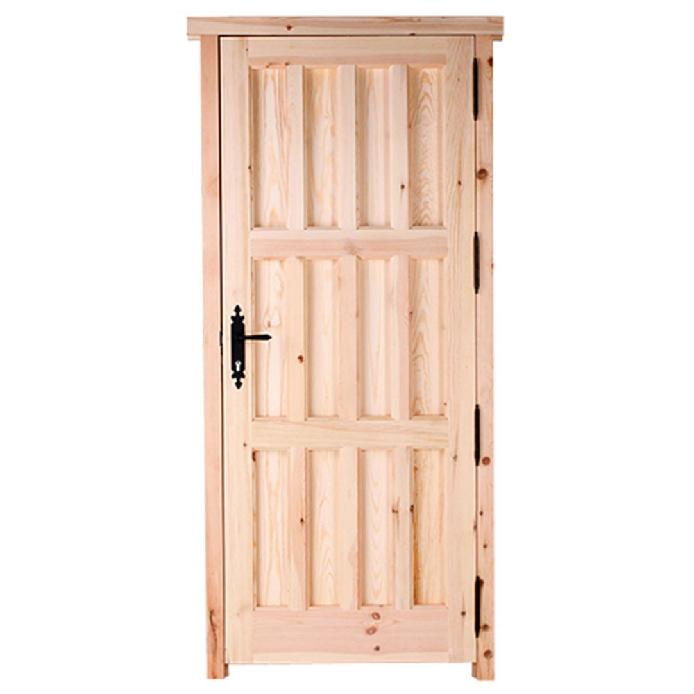 Puerta de entrada maciza pino cruda entera ref 14780290 - Puertas de pino ...