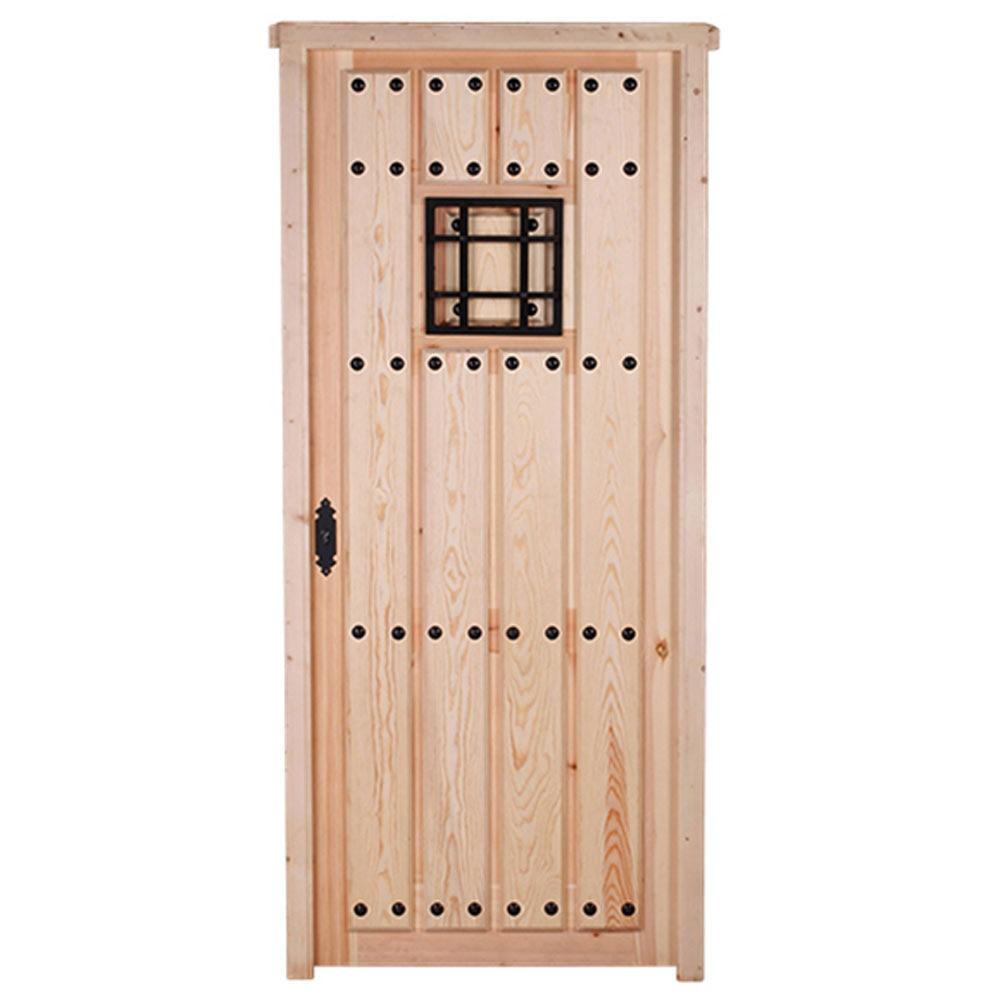 Maciza pino cruda reja leroy merlin - Como barnizar una puerta de madera con pistola ...