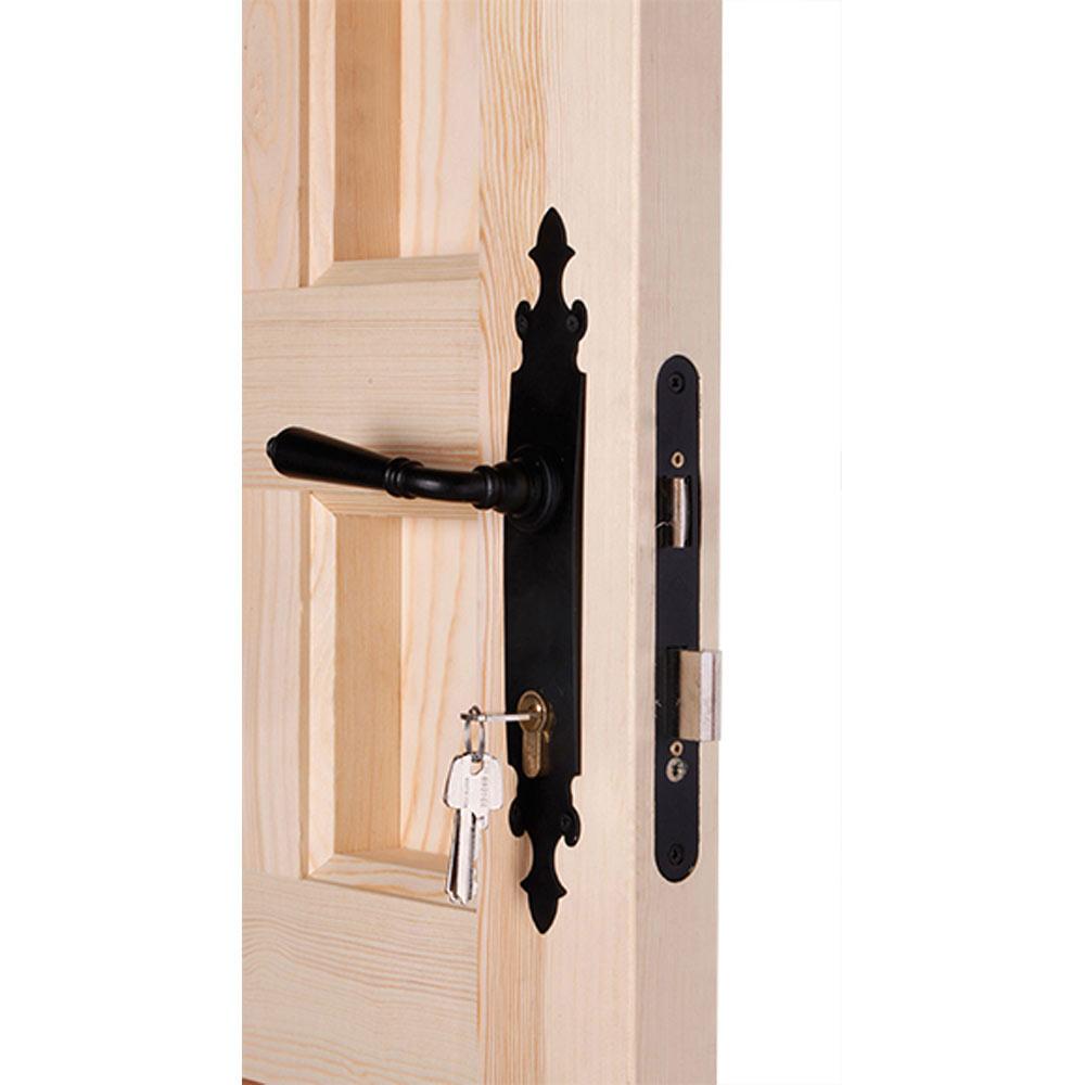 Puerta de entrada maciza pino partida reja ref 14780241 for Tapajuntas puertas leroy merlin