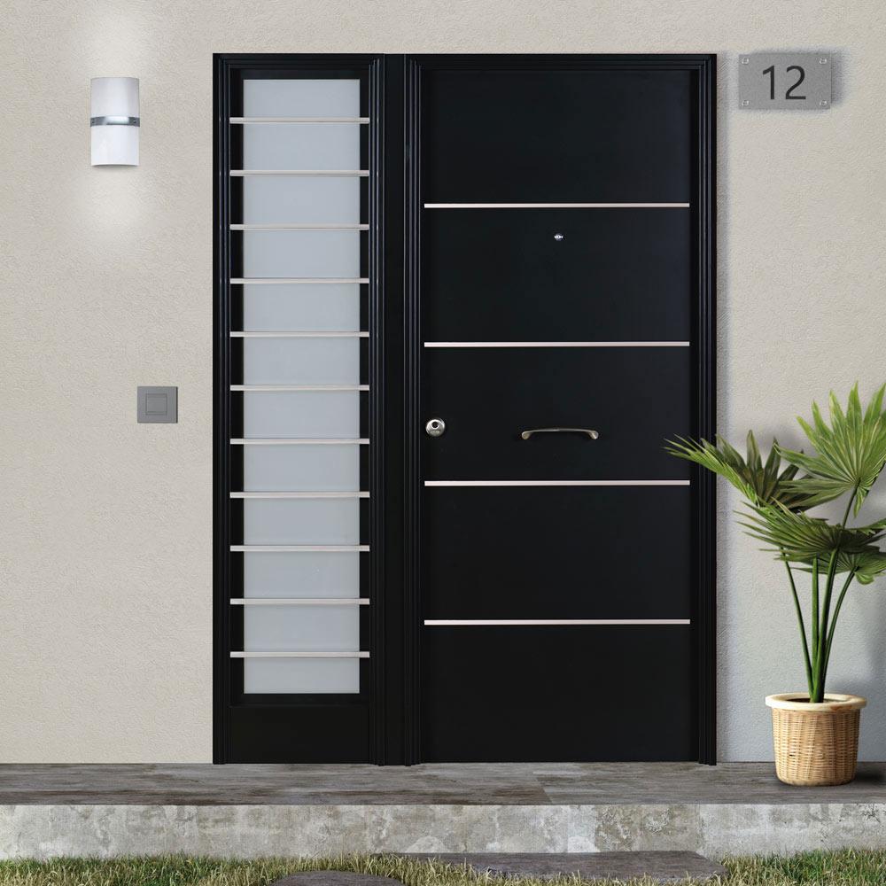 Puertas principales de aluminio trendy metlica for Cuanto vale una puerta
