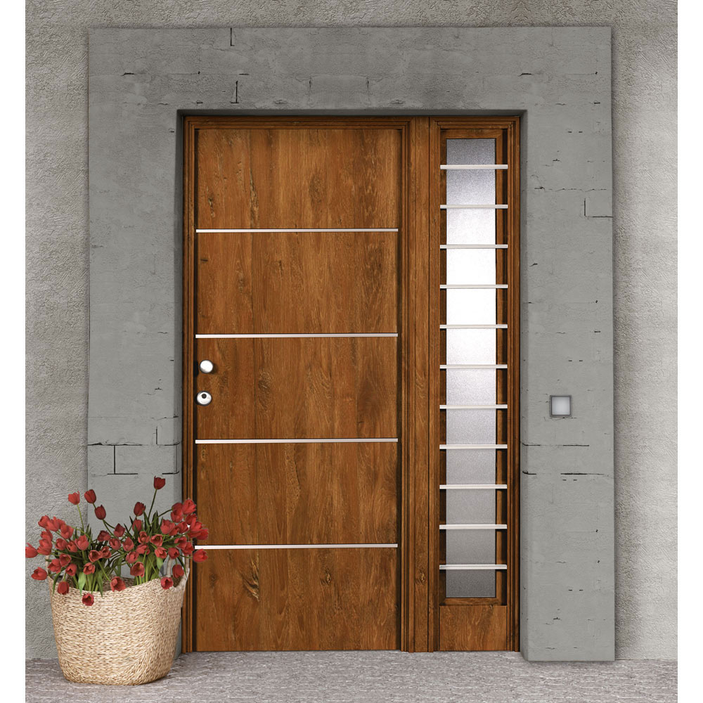 Puertas de entrada de aluminio mximo aislamiento trmico for Puertas rusticas exterior leroy merlin