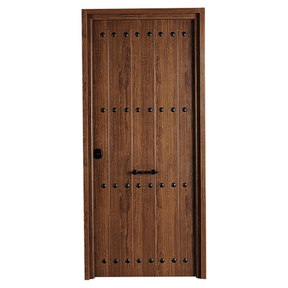 Puerta de entrada met lica met lica r stica roble viejo - Medidas puerta entrada ...