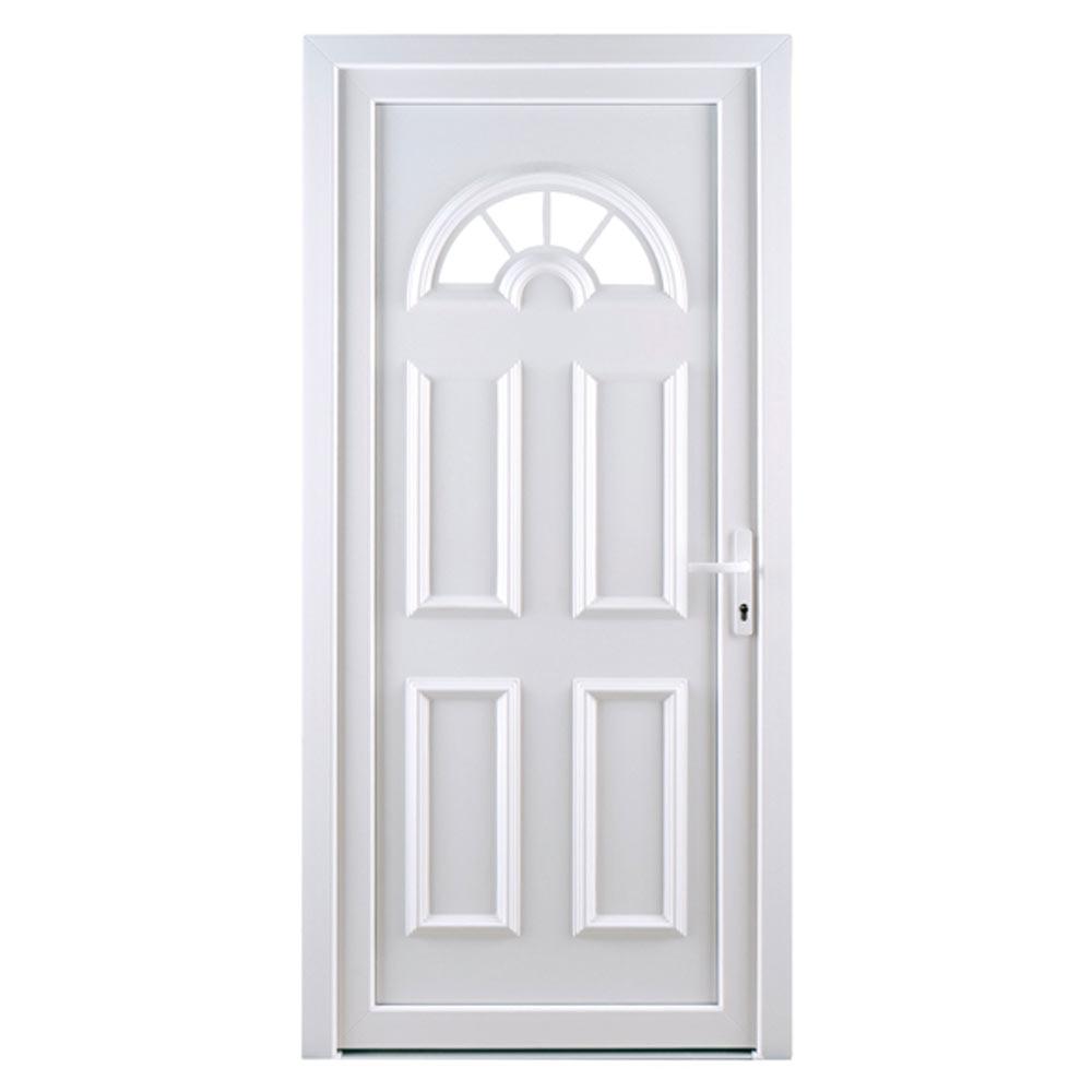 Puerta de entrada pvc pvc ibiza blanca ref 16777222 for Puertas de pvc exterior