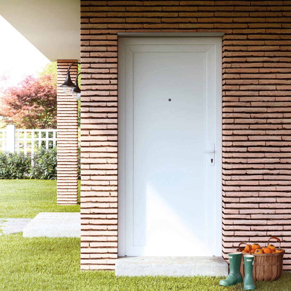 Puerta de entrada pvc pvc sevilla blanca ref 16777215 - Puertas de entrada leroy merlin ...