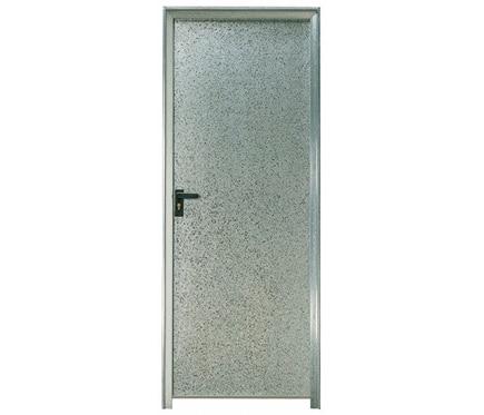 Puerta auxiliar galvanizada galvanizada ciega ref for Puertas de chapa para exterior
