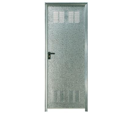 Puerta auxiliar galvanizada galvanizada rejilla ref for Puerta galvanizada