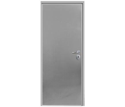 Puerta de seguridad seguridad para trasteros apertura for Puertas que abren hacia afuera