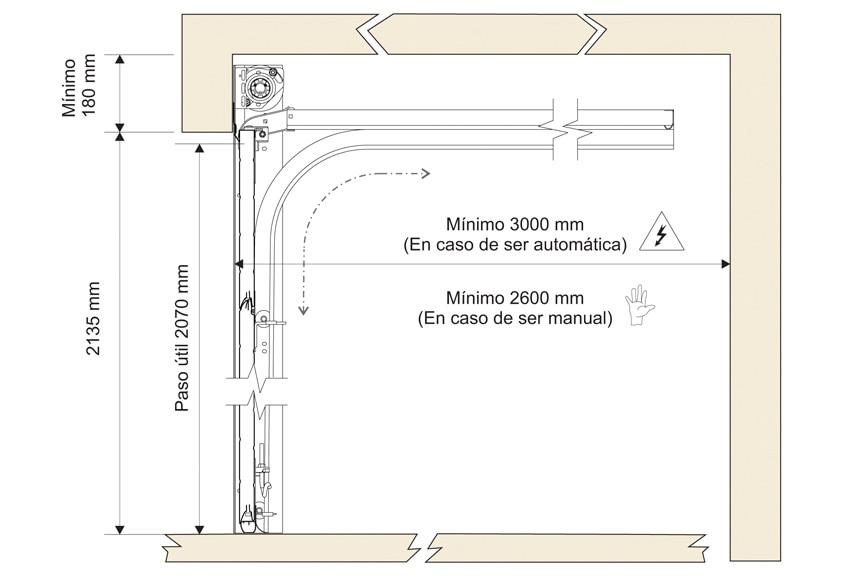 Puerta de garaje seccional ref 16305730 leroy merlin for Puertas de madera para cochera