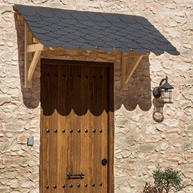 Marquesinas para puertas leroy merlin for Tejados de madera para puertas