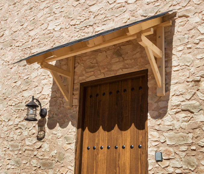 Marquesina tejado grande 310 x 120 x 100 cm ref 11453806 for Tejados de madera para puertas