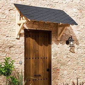 Marquesina puerta entrada casa materiales para la renovaci n de la casa - Tejadillo para puerta ...