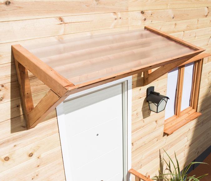 Marquesina 3d abeto con cobertura 155 x 69 x 80 cm ref for Tejados de madera para puertas