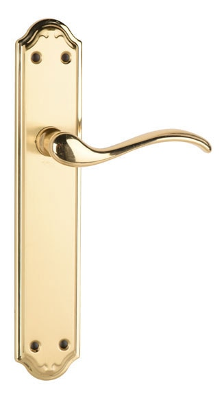 manilla lyon dorado satinado ref 14740943 leroy merlin. Black Bedroom Furniture Sets. Home Design Ideas