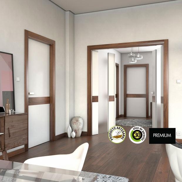 Puertas de interior de madera leroy merlin for Paredes grises y puertas blancas