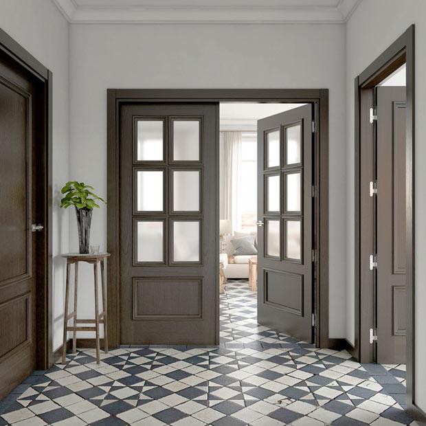 Puertas de interior de madera leroy merlin for Ver modelos de puertas