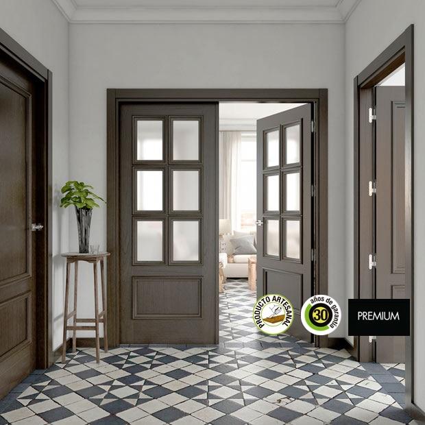 Puertas de interior de madera leroy merlin for Decorar puertas viejas de interior