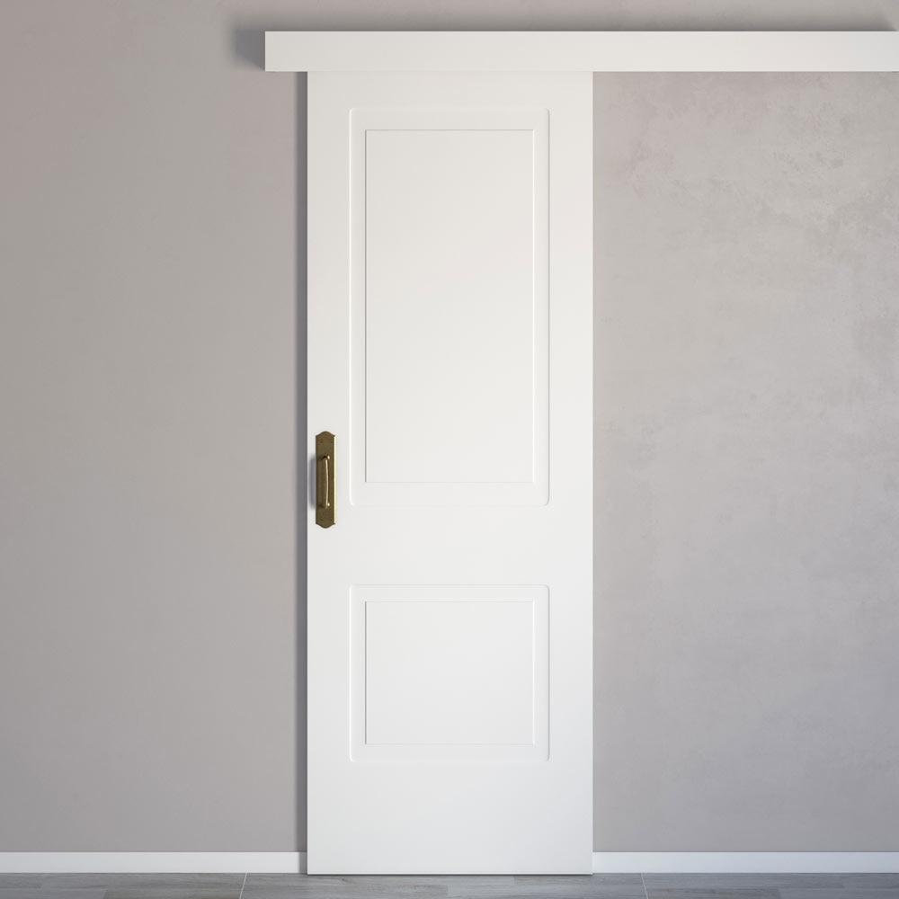 Puerta de interior maciza bayona blanca ref 16148391 for Puertas de aluminio leroy merlin