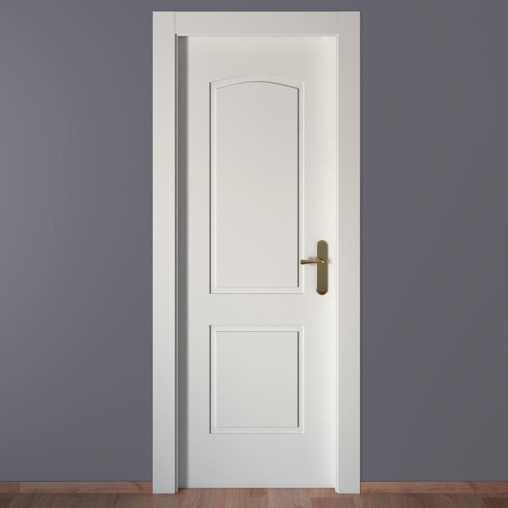 Puerta De Interior Maciza Artens Berlin Blanca Ref 18015221  ~ Puertas Lacadas Blancas Leroy Merlin