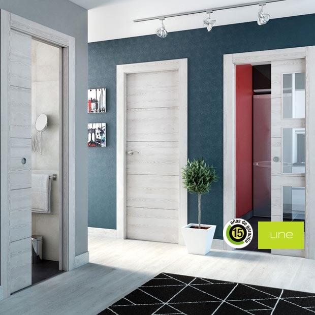 Puertas de interior de madera leroy merlin for Puertas macizas blancas